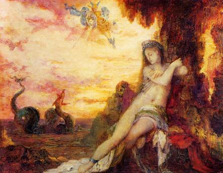 Gustave Moreau (1826–1898), Perseus and Andromeda (1870), oil on panel, 20 x 25.4 cm, Bristol City Museum and Art Gallery, Bristol, England. Wikimedia Commons.