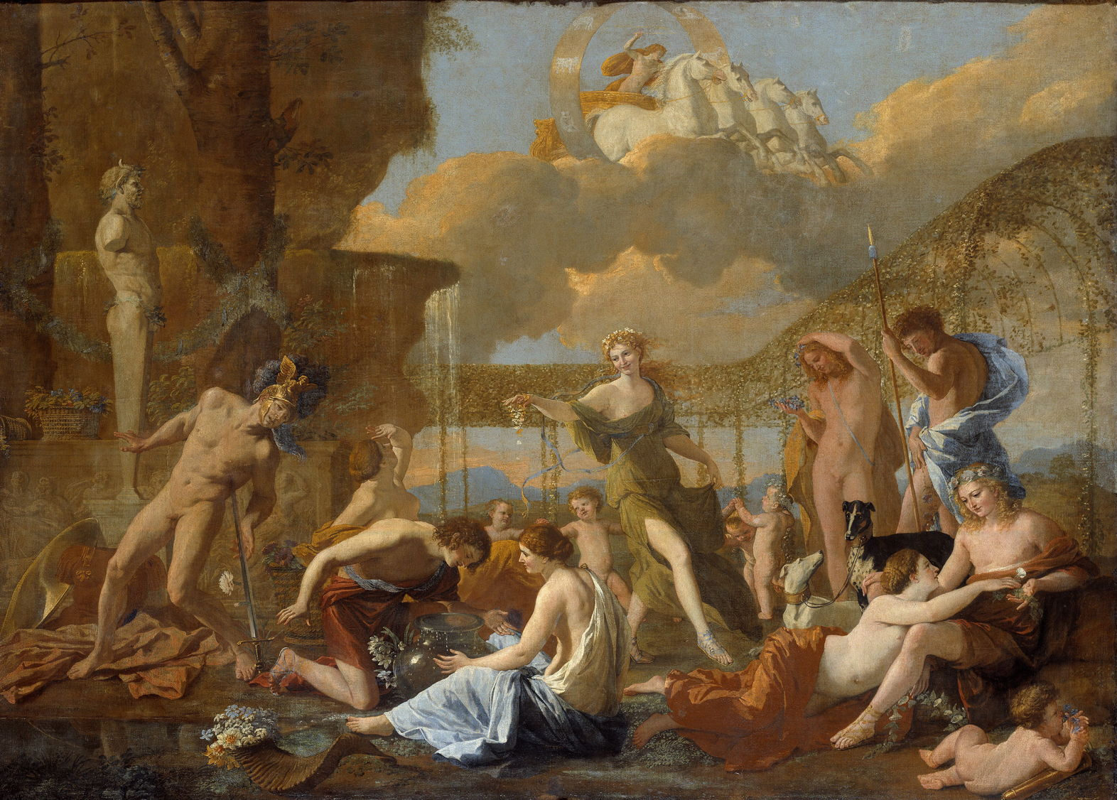 The story in paintings poussin s empire of flora the for Jardin querubines
