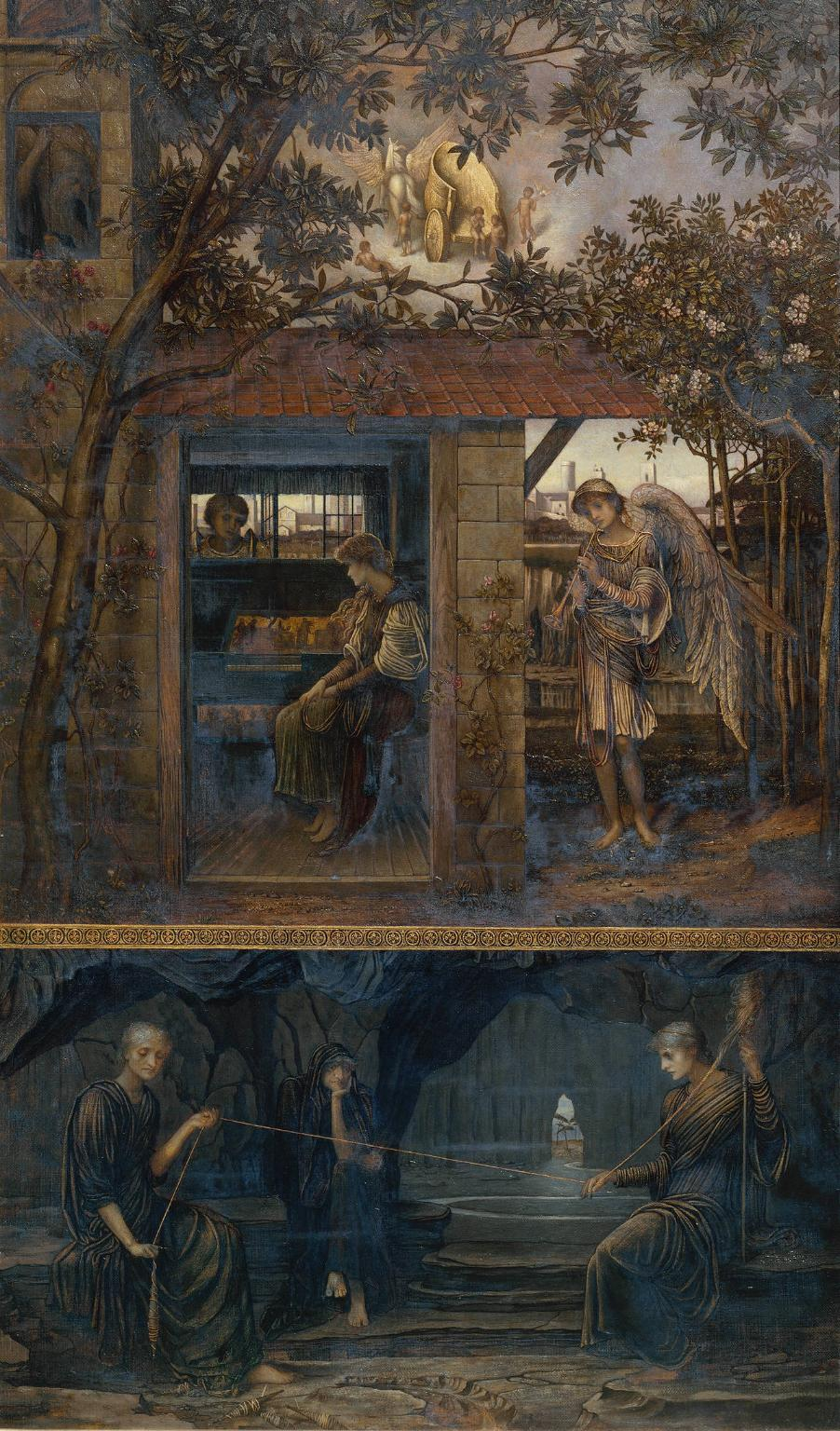 A Golden Thread exhibited 1885 by John Melhuish Strudwick 1849-1935