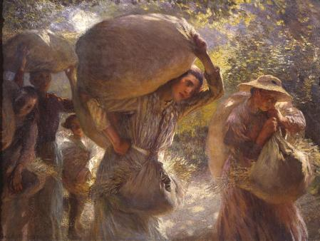 Sir George Clausen (1852–1944), Gleaners Coming Home (1904), oil on canvas, 92.7 x 122.6 cm, The Tate Gallery (Presented by C.N. Luxmoore 1929), London. Photographic Rights © Tate 2016, CC-BY-NC-ND 3.0 (Unported), http://www.tate.org.uk/art/artworks/clausen-gleaners-coming-home-n04486