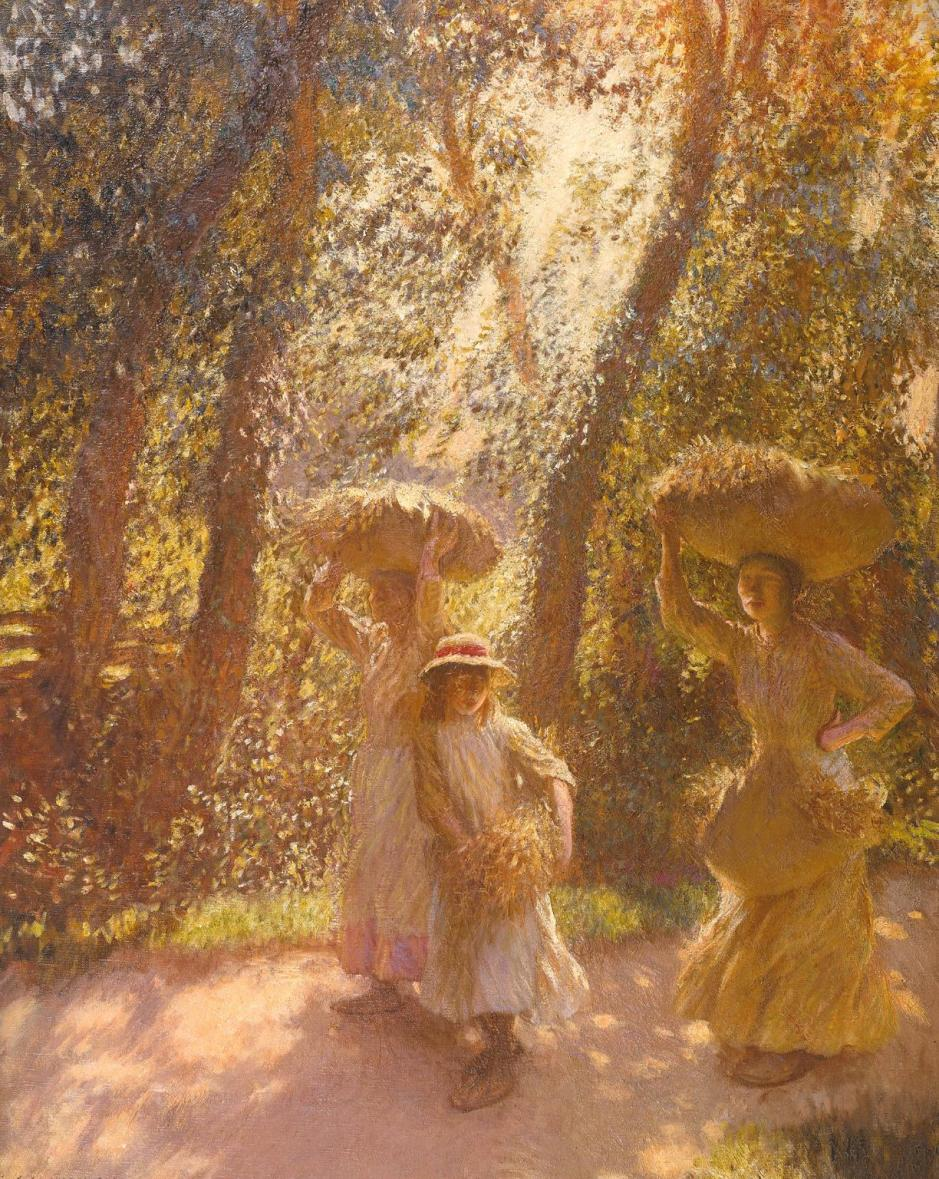 The Gleaners Returning 1908 by Sir George Clausen 1852-1944