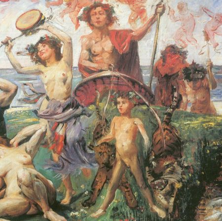 Lovis Corinth (1858–1925) Ariadne on Naxos (detail) (1913), oil on canvas, 116 × 147 cm, Private collection. Wikimedia Commons.