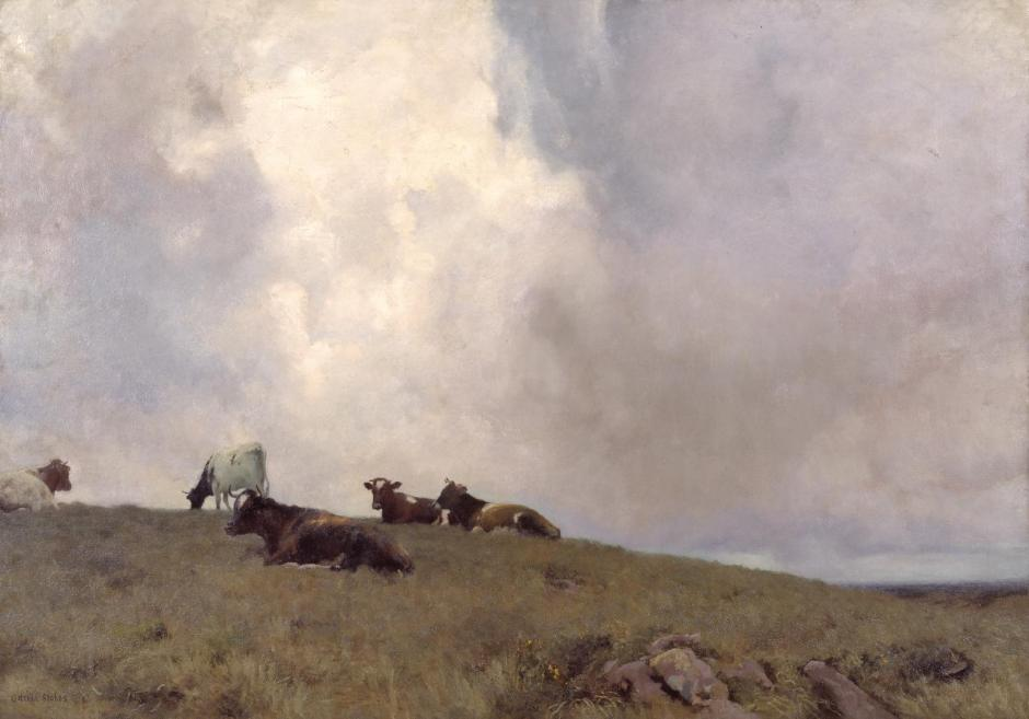 Uplands and Sky 1886-8 by Adrian Stokes 1854-1935