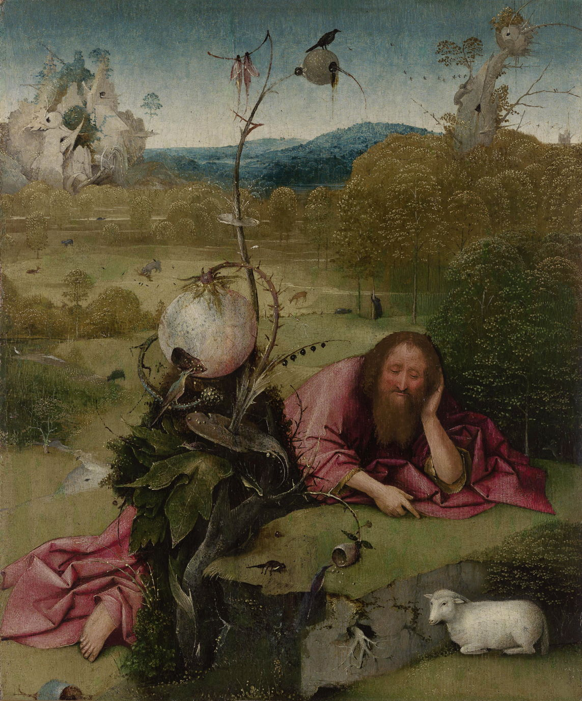 Hieronymus Bosch Saint John The Baptist Madrid The