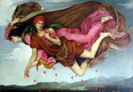 Evelyn De Morgan (1855–1919), Night and Sleep (1878), oil on canvas, 42 × 62 cm, The De Morgan Centre, Guildford, Surrey, England. Wikimedia Commons.