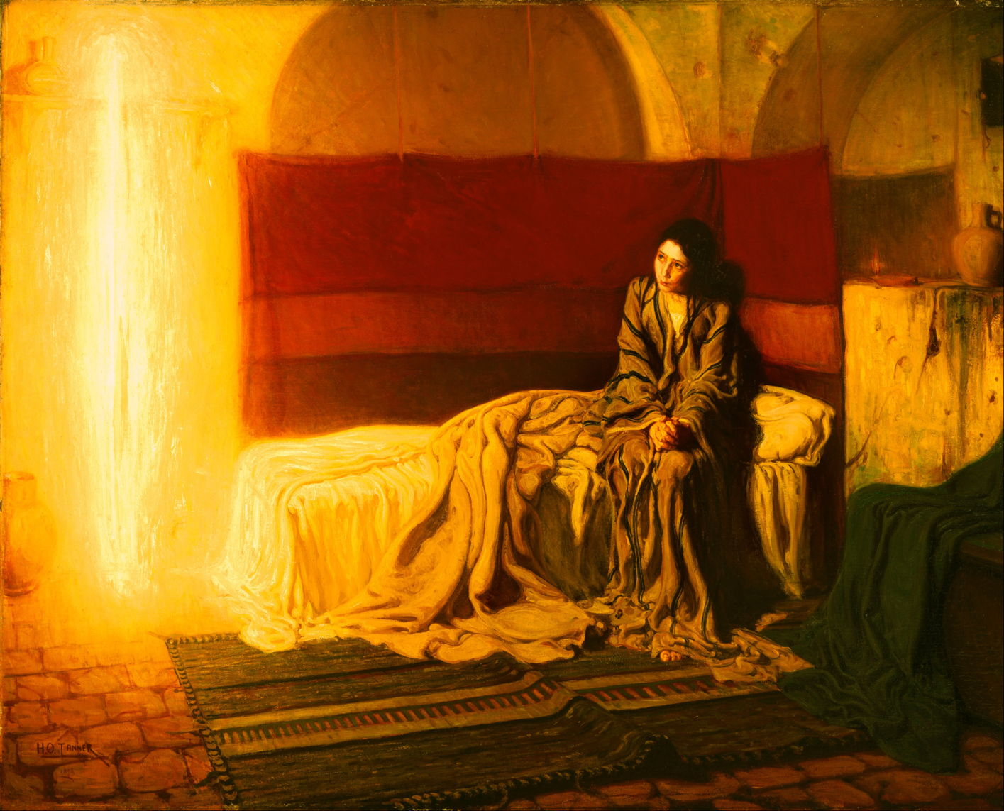 Henry Ossawa Tanner (1859u20131937), The Annunciation (1898), Oil On Canvas,  144.9 X 181.1 Cm, Philadelphia Museum Of Art, Philadelphia, PA. Wikimedia  Commons.