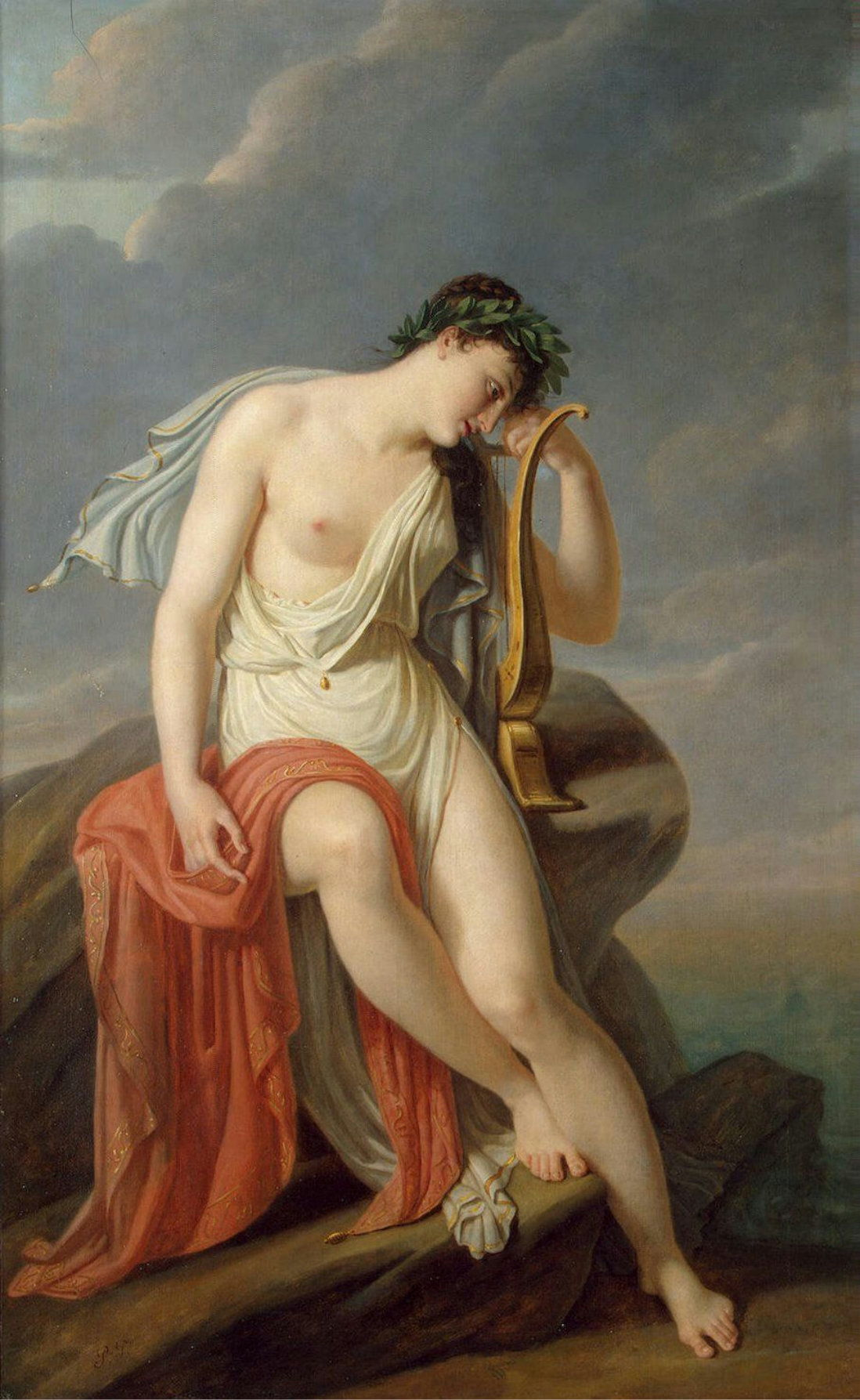 """representation of sappho Of that extensive output, we possess precisely one complete poem generally referred to as """"fragment 1"""" in the standard editions of sappho's works, this seven-stanza lyric, composed in sapphic strophes, is a self-deprecatingly humorous request for assistance by the lovelorn sappho to aphrodite, goddess of love."""