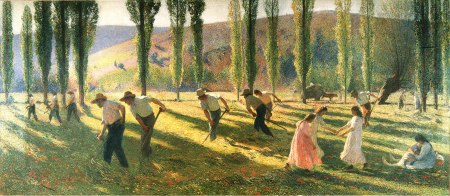 Henri-Jean Guillaume Martin (1860–1943), Summer (date not known), oil on panel, dimensions not known, location not known. Wikimedia Commons.
