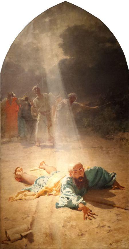 Domenico Morelli (1823–1901), The Conversion of Saint Paul (1876), oil on canvas, dimensions not known, Cattedrale di Altamura, Altamura, Italy. Wikimedia Commons.