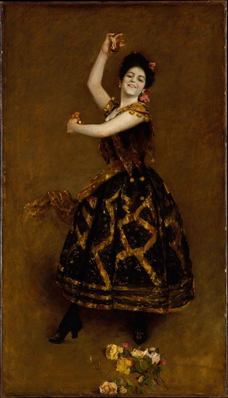 William Merritt Chase (1849-1916), Carmencita (1890), oil on canvas, 177.5 x 103.8 cm, The Metropolitan Museum of Art (Gift of Sir William Van Horne, 1906), New York, NY. Courtesy of The Metropolitan Museum of Art.