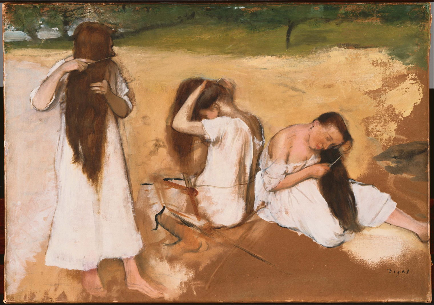 Edgar Degas Woman Bathing The Eclectic Light Company