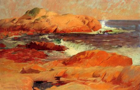 Frank Duveneck (1848–1919), Brace's Rock (c 1916), oil on canvas, dimensions not known, Private collection. The Athenaeum.