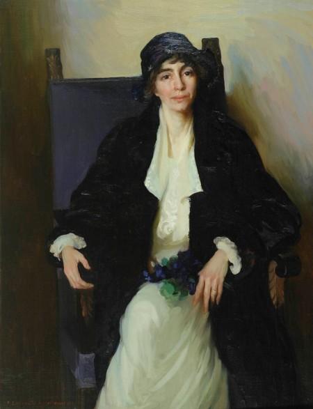 Ella Sophonisba Hergesheimer (1873-1943), Portrait of Madeline McDowell Breckinridge (1920), oil on canvas, 122.2 x 93.7 cm, Johnson Collection, Spartanburg, SC. Wikimedia Commons.