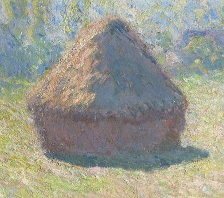 Claude Monet (1840–1926), Meules, fin de l'été (Haystacks, end of Summer) (detail) (1891), oil on canvas, 60 x 100 cm, Musée d'Orsay, Paris. Wikimedia Commons.