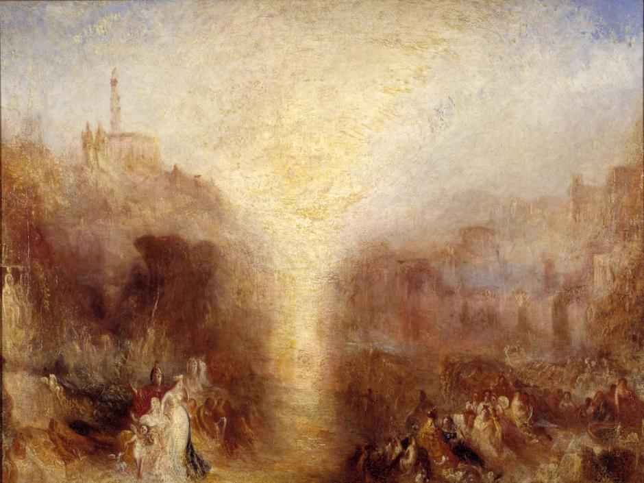 The Visit to the Tomb exhibited 1850 by Joseph Mallord William Turner 1775-1851