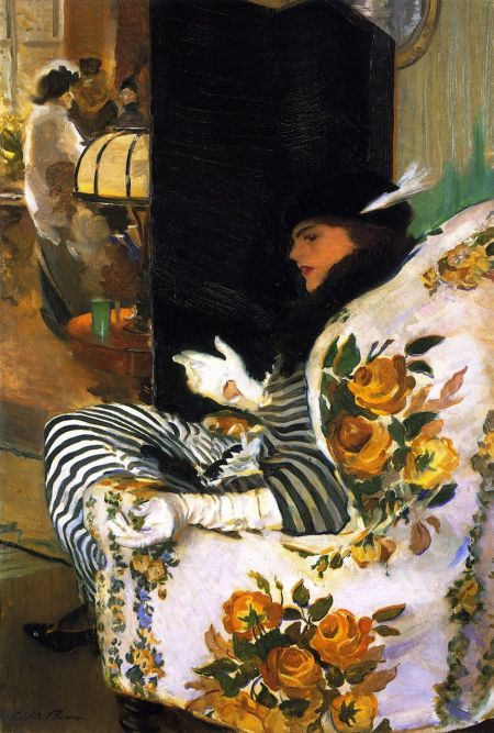 Cecilia Beaux (1855–1942), After the Meeting (1914), oil on canvas, 104 x 71.4 cm, Toledo Museum of Art, Toledo, OH. The Athenaeum.