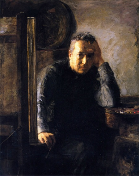Susan Macdowell Eakins (1851–1938), Thomas Eakins (c 1920-25), oil on canvas, 127 x 101.6 cm, Philadelphia Museum of Art, Philadelphia, PA. The Athenaeum.