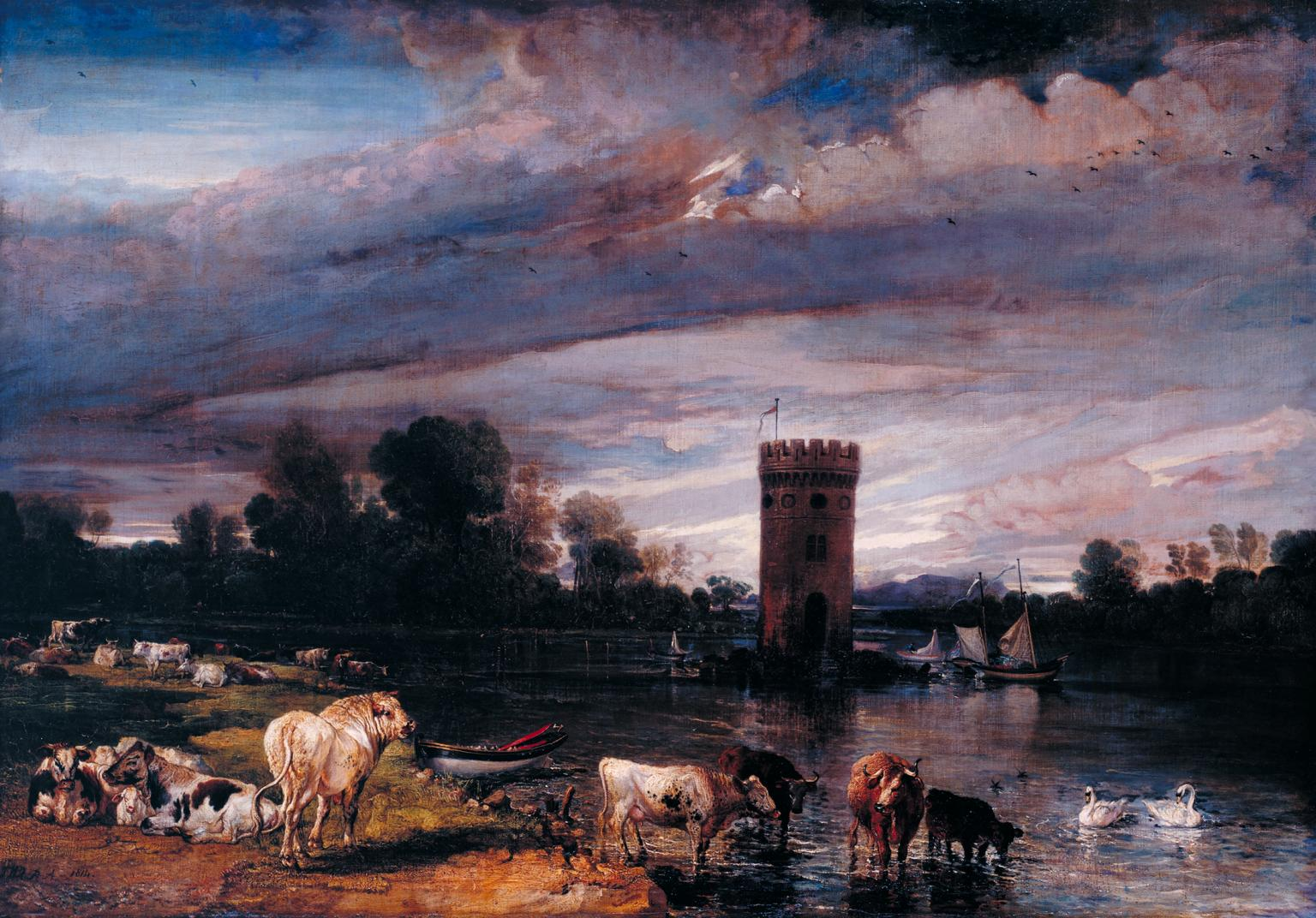 Print James Ward John Levett Hunting At Wychnor Staffordshire