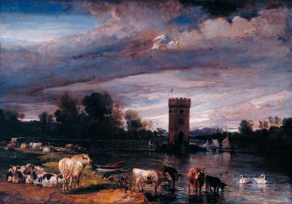 View in Tabley Park 1813-8 by James Ward 1769-1859