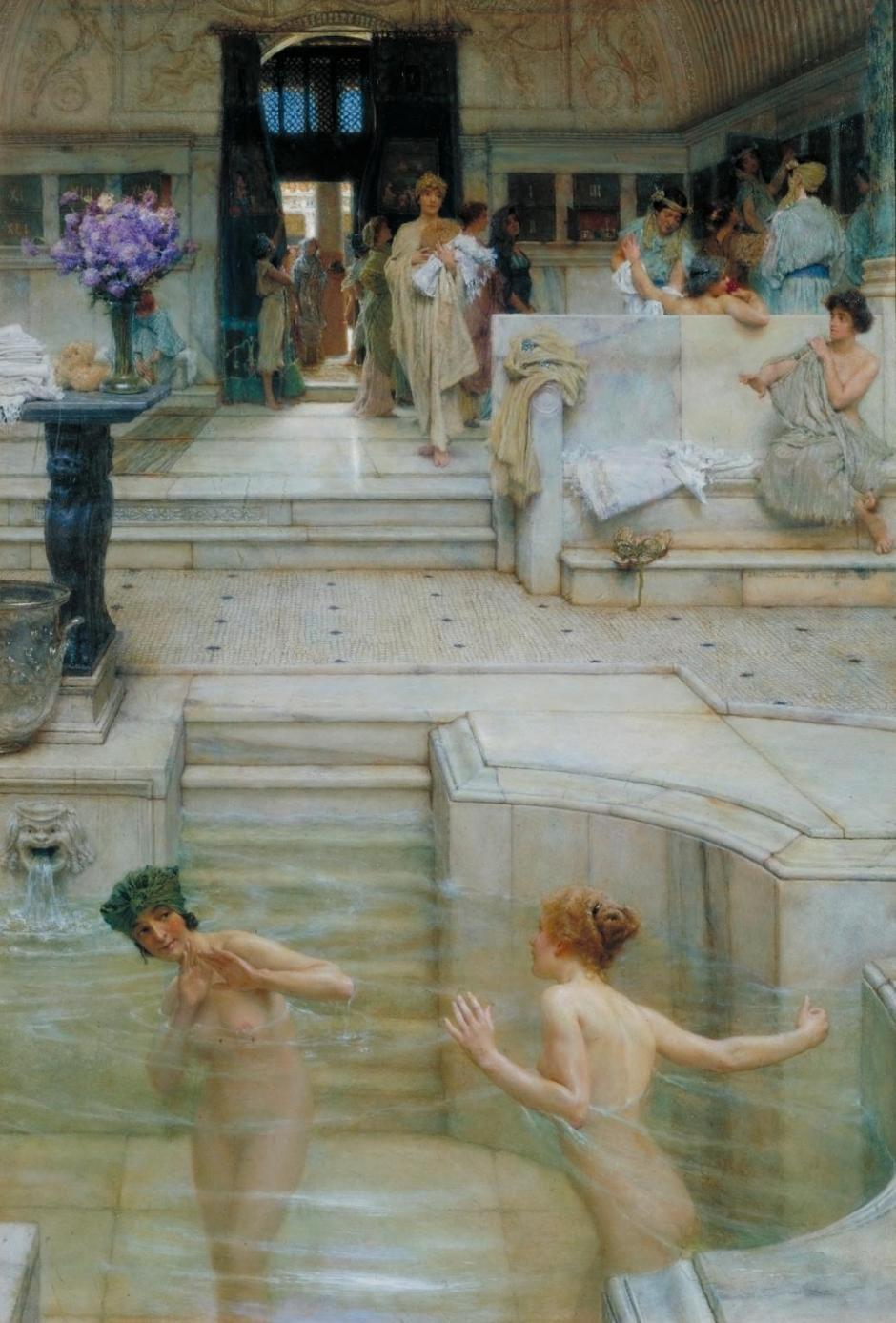 A Favourite Custom 1909 by Sir Lawrence Alma-Tadema 1836-1912