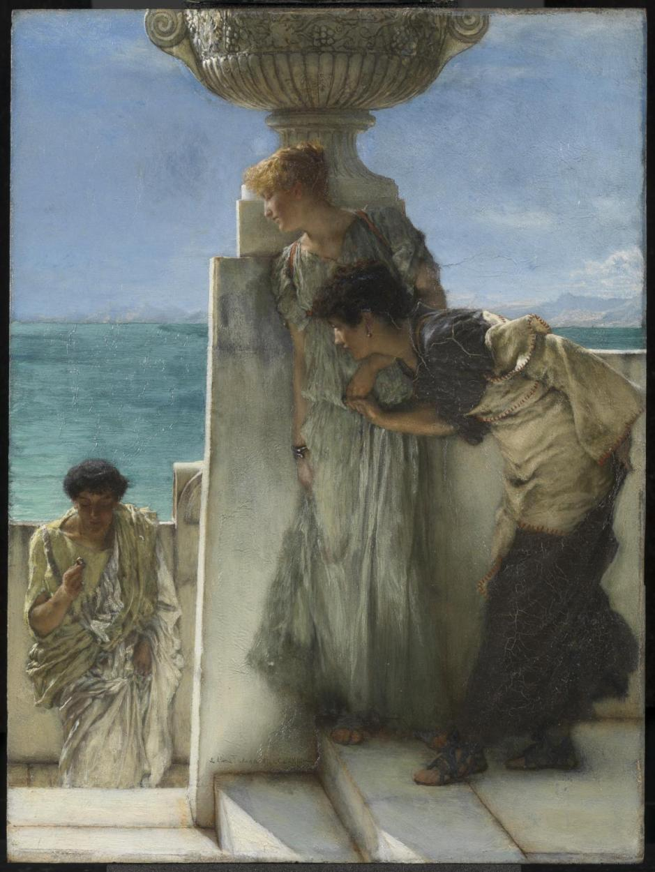 A Foregone Conclusion 1885 by Sir Lawrence Alma-Tadema 1836-1912