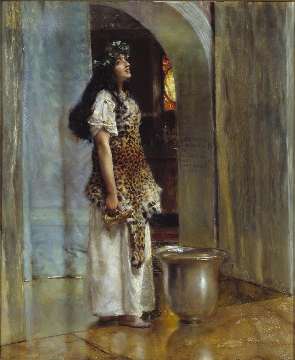 A Priestess of Apollo ?c.1888 by Sir Lawrence Alma-Tadema 1836-1912