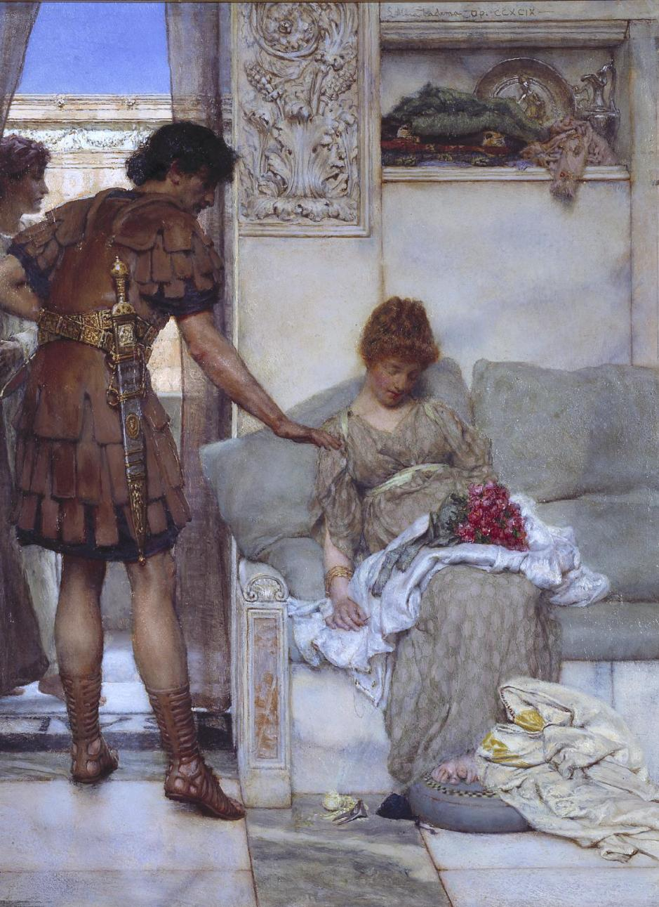 A Silent Greeting 1889 by Sir Lawrence Alma-Tadema 1836-1912
