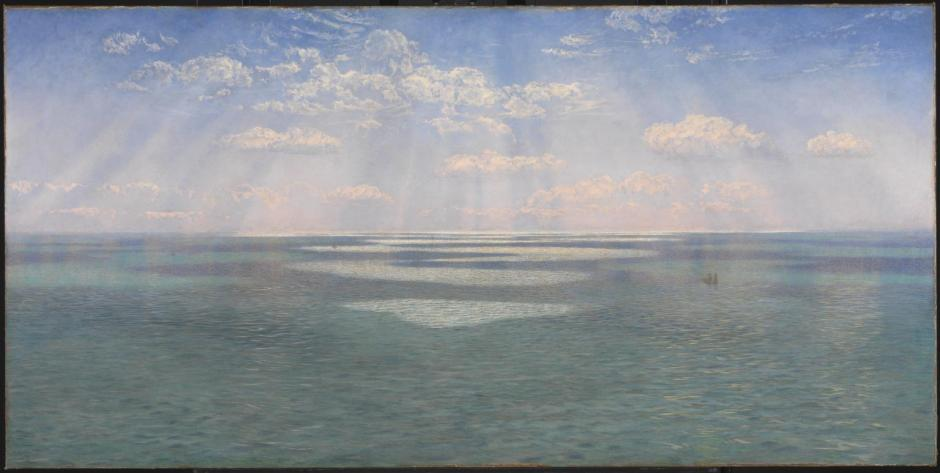 The British Channel Seen from the Dorsetshire Cliffs 1871 by John Brett 1831-1902