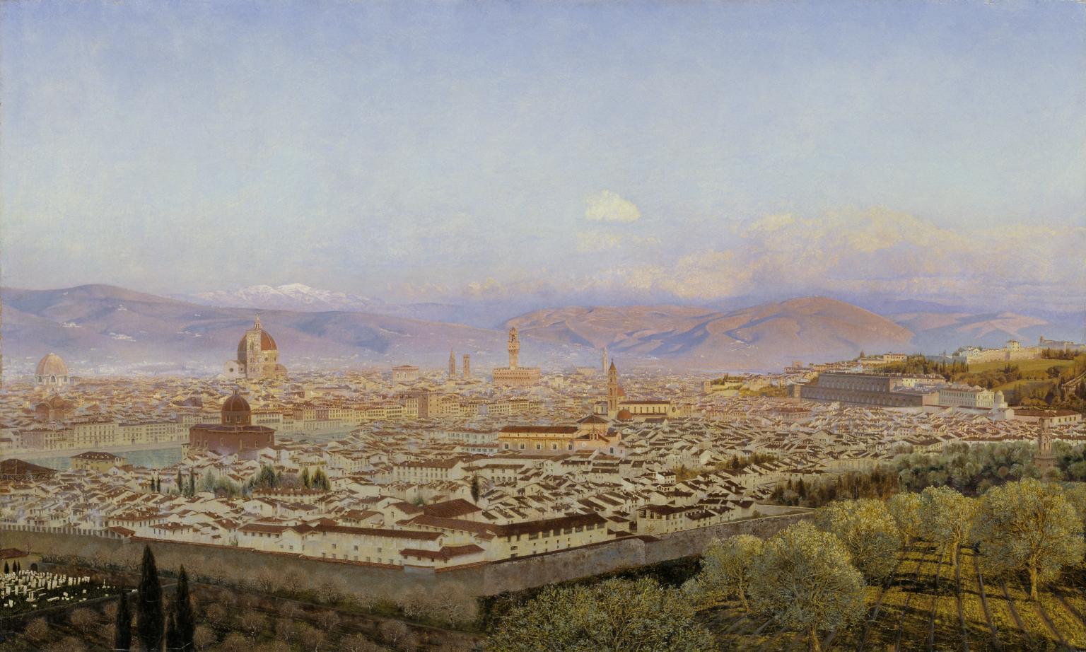 Florence from Bellosguardo 1863 by John Brett 1831-1902