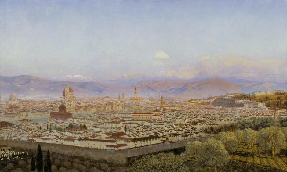 Florence from Bellosguardo 1863 by John Brett 1831-1902