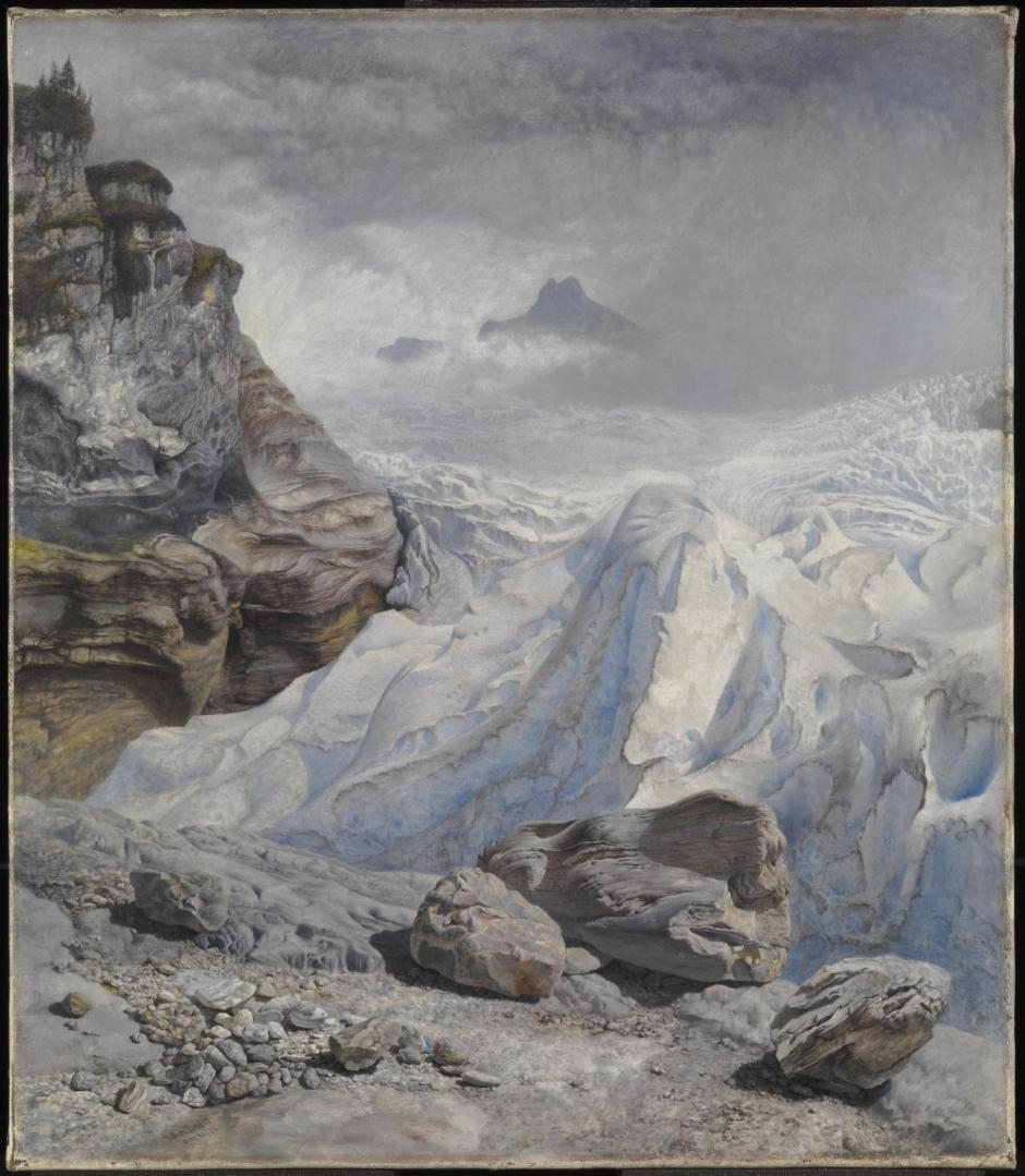 Glacier of Rosenlaui 1856 by John Brett 1831-1902