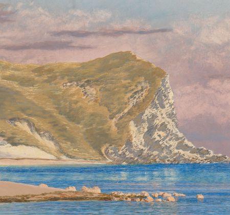 John Brett (1831–1902), Man of War Rocks, Coast of Dorset (detail) (1884), oil on canvas, 61 x 71.1 cm, Yale Center for British Art, New Haven, CT. Wikimedia Commons.