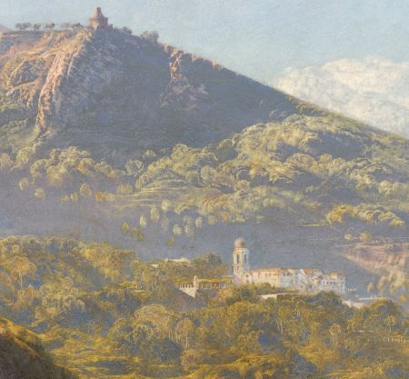 John Brett (1831–1902), Massa, Bay of Naples (detail) (1863-64), oil on canvas, 63.8 x 102 cm, Indianapolis Museum of Art, Indianapolis, IN. Wikimedia Commons.