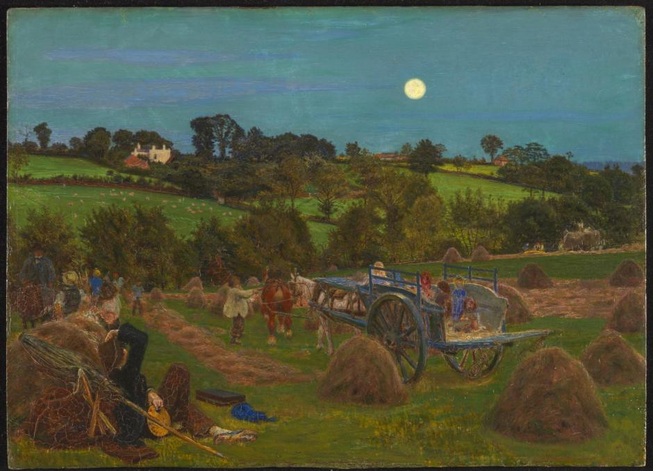 The Hayfield 1855-6 by Ford Madox Brown 1821-1893