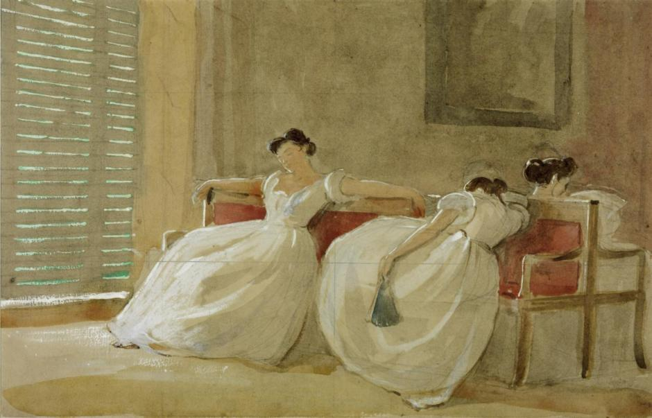 Half Hours with the Best Authors ('The Siesta') 1866 by Philip Hermogenes Calderon 1833-1898