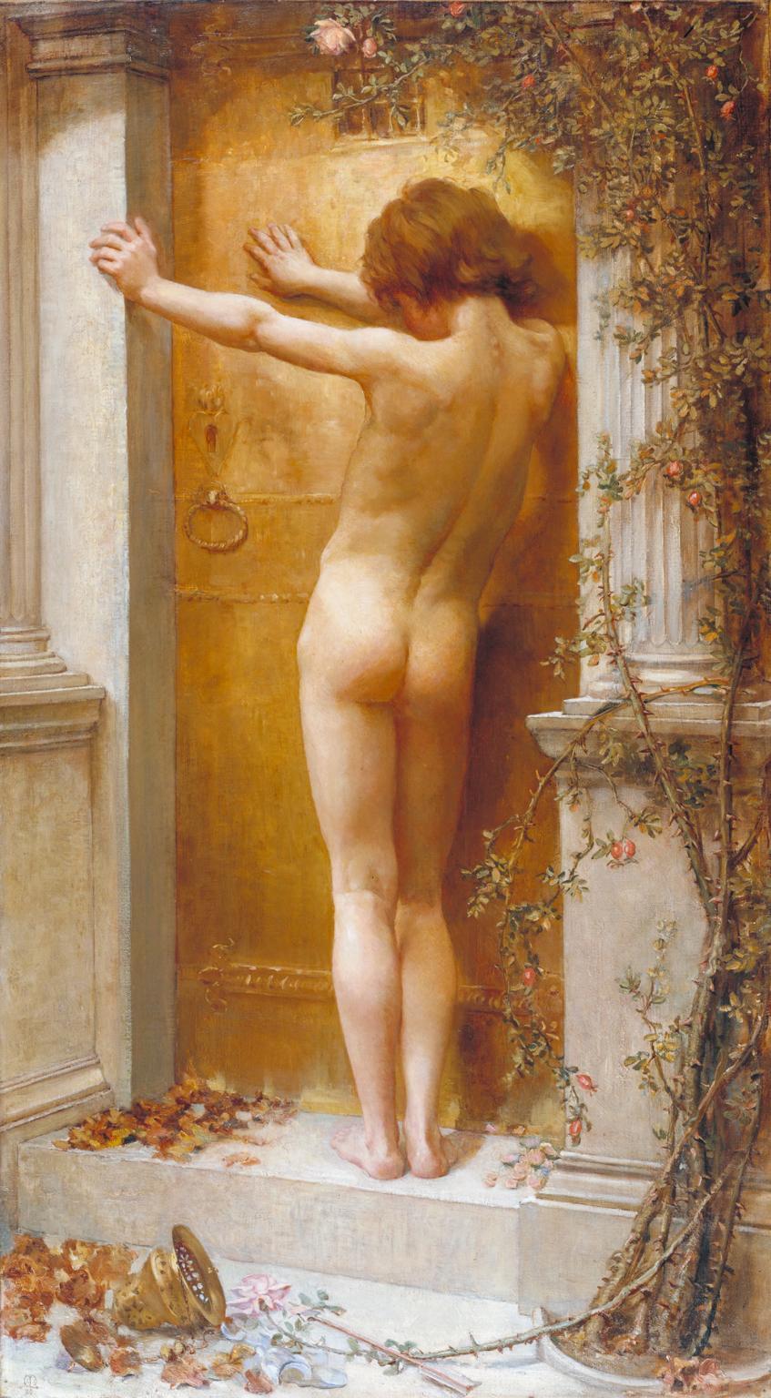 Love Locked Out 1890 by Anna Lea Merritt 1844-1930