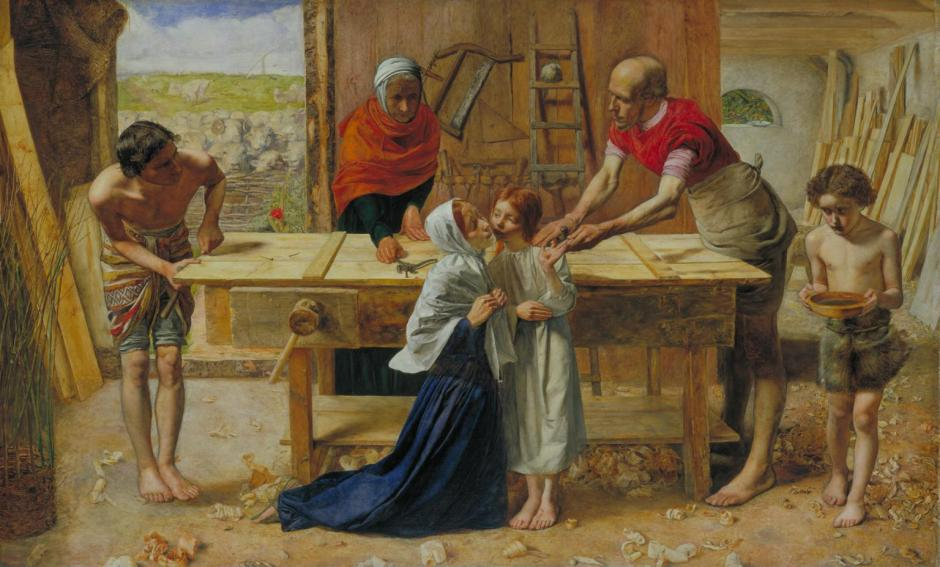 Christ in the House of His Parents ('The Carpenter's Shop') 1849-50 by Sir John Everett Millais, Bt 1829-1896