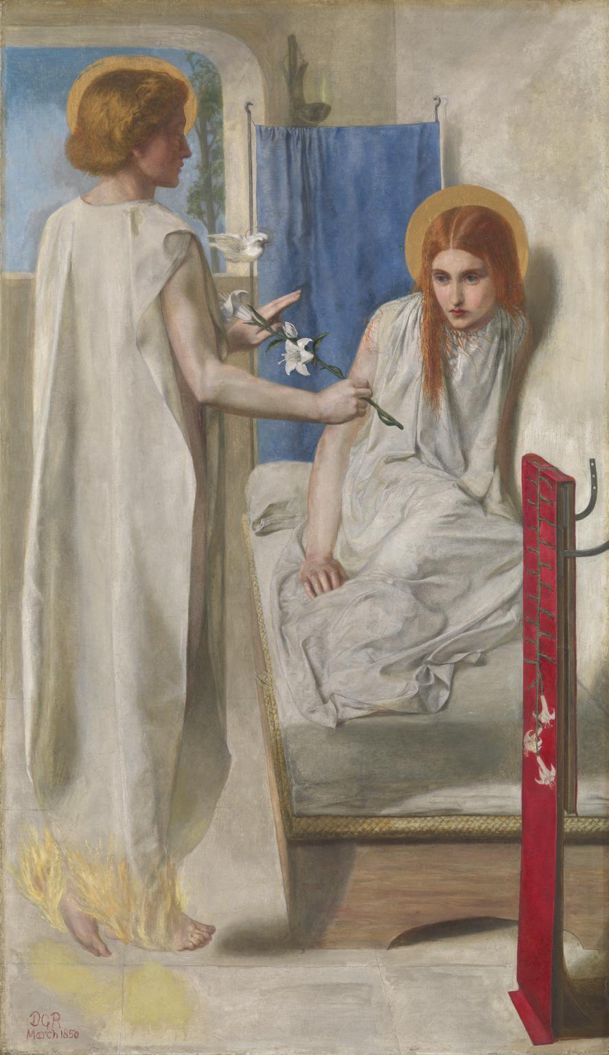 Ecce Ancilla Domini! (The Annunciation) 1849-50 by Dante Gabriel Rossetti 1828-1882