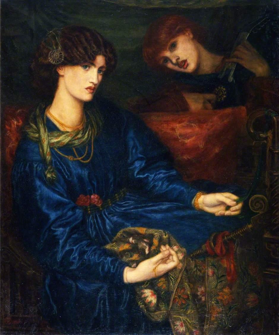 Rossetti, Dante Gabriel, 1828-1882; Mariana