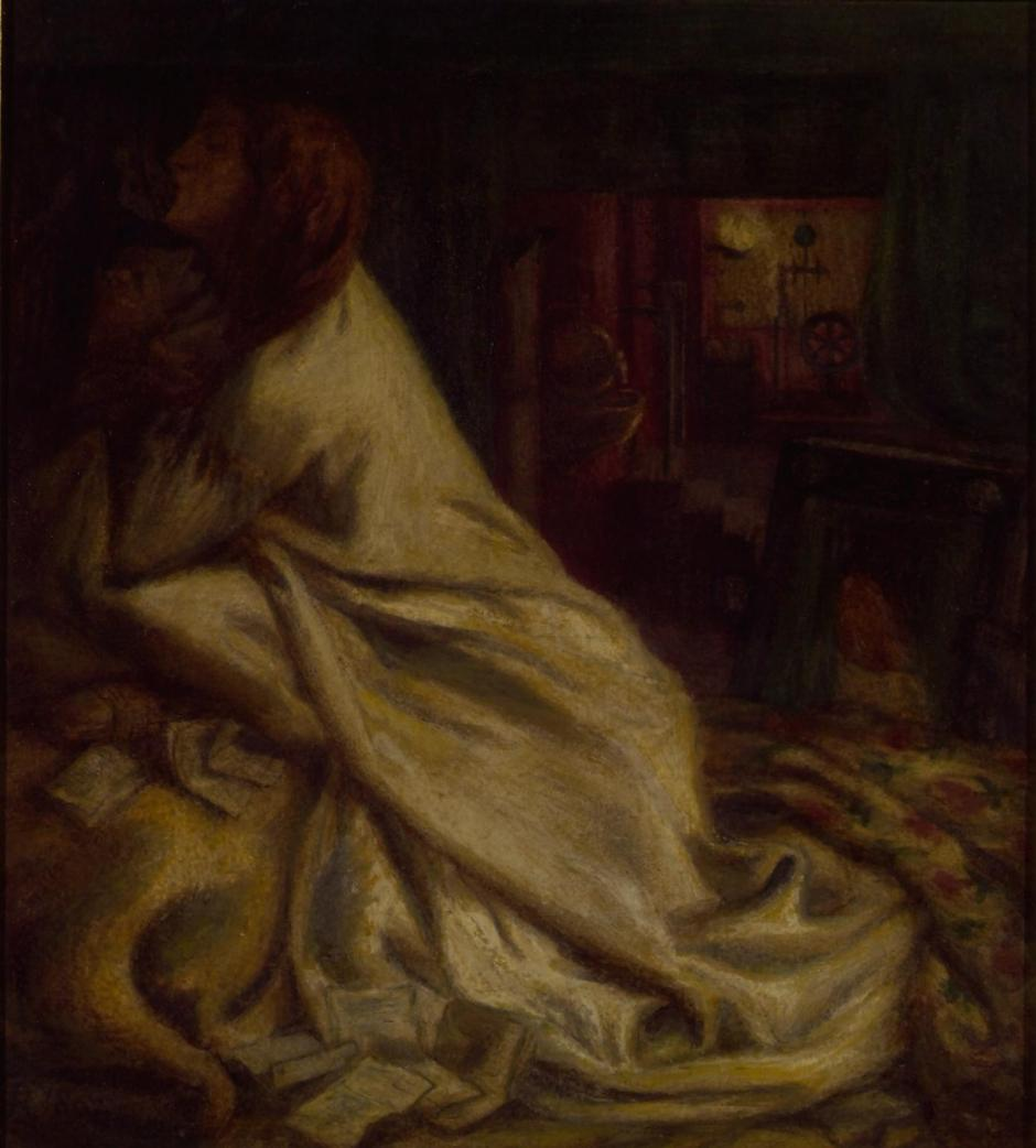 The Heart of the Night (Mariana in the Moated Grange) 1862 by Dante Gabriel Rossetti 1828-1882