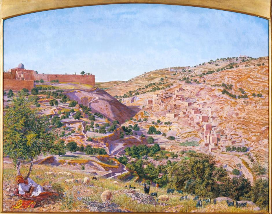 Jerusalem and the Valley of Jehoshaphat from the Hill of Evil Counsel 1854-5 by Thomas Seddon 1821-1856