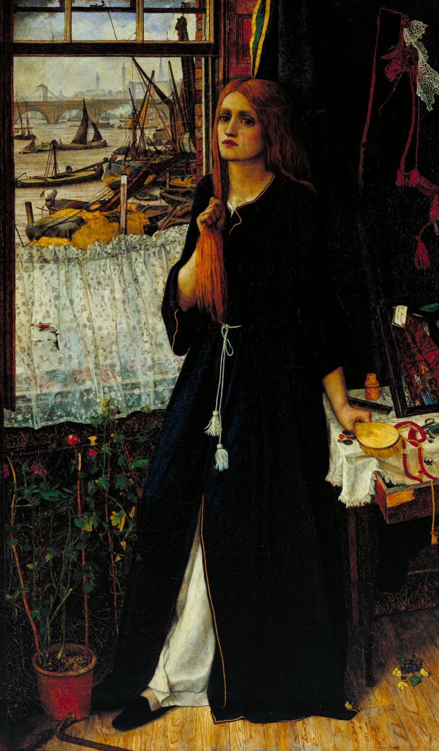 Thoughts of the Past exhibited 1859 by John Roddam Spencer Stanhope 1829-1908