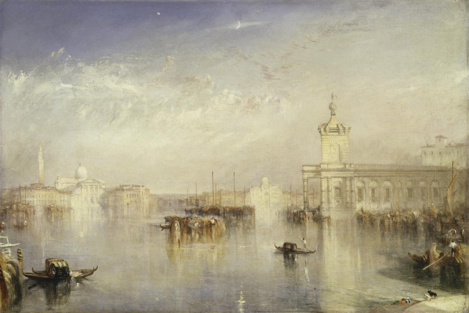 The Dogano, San Giorgio, Citella, From The Steps Of The Europa Exhibited  1842