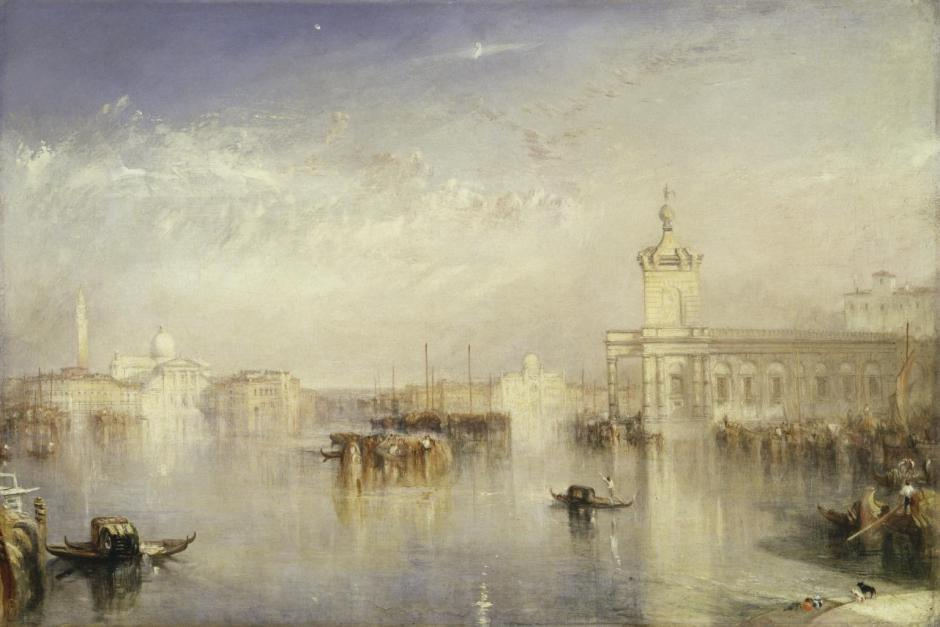 The Dogano, San Giorgio, Citella, from the Steps of the Europa exhibited 1842 by Joseph Mallord William Turner 1775-1851