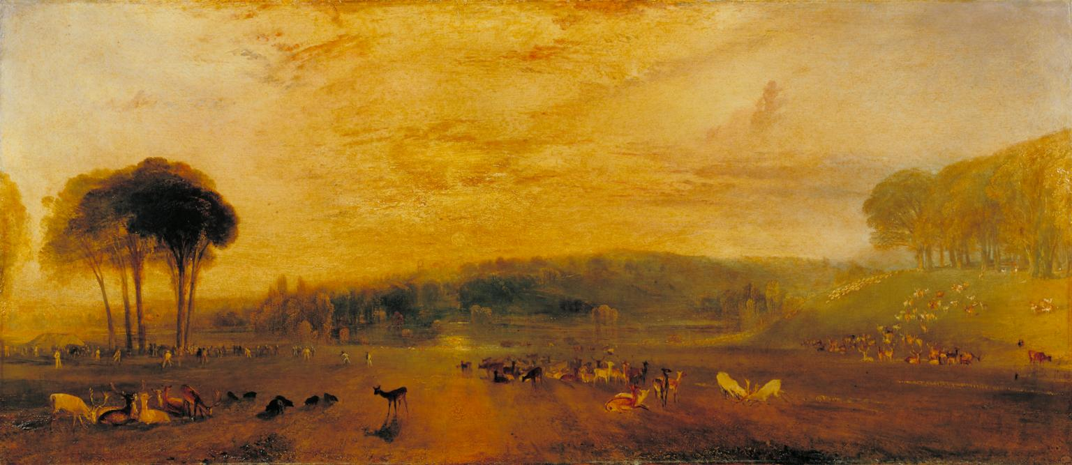 The Lake, Petworth: Sunset, Fighting Bucks C.1829 By Joseph Mallord William