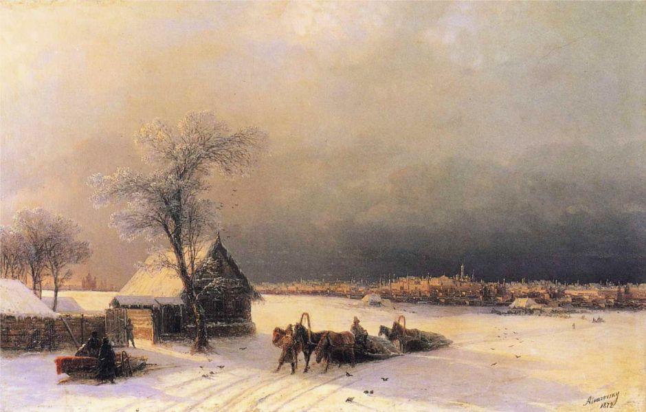 aivazovskymoscowwintersparrowhills