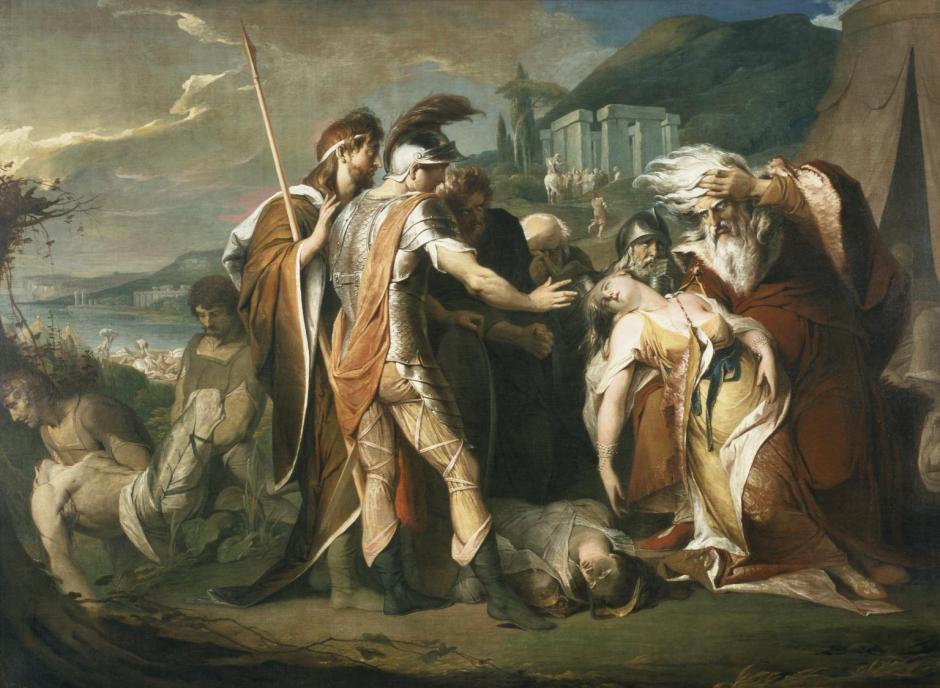 King Lear Weeping over the Dead Body of Cordelia 1786-8 by James Barry 1741-1806
