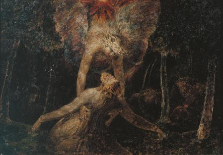 William Blake (1757–1827), The Agony in the Garden (1799–1800), tempera on iron, 27 x 38 cm, The Tate Gallery (Presented by the executors of W. Graham Robertson through the Art Fund 1949), London. © The Tate Gallery and Photographic Rights © Tate (2016), CC-BY-NC-ND 3.0 (Unported), http://www.tate.org.uk/art/artworks/blake-the-agony-in-the-garden-n05894