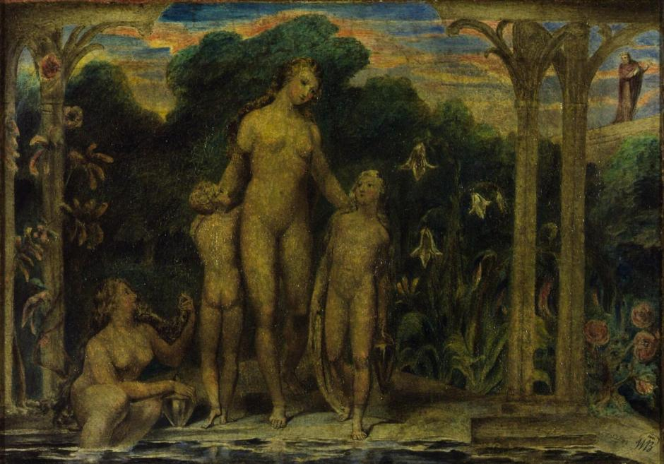 Bathsheba at the Bath c.1799-1800 by William Blake 1757-1827