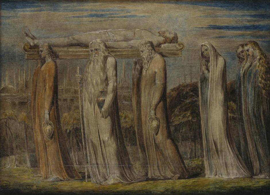 The Body of Christ Borne to the Tomb c.1799-1800 by William Blake 1757-1827